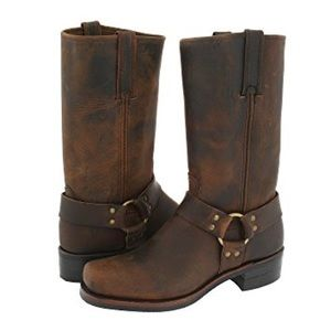 Frye 12R harness moto motorcycle boots cowboy